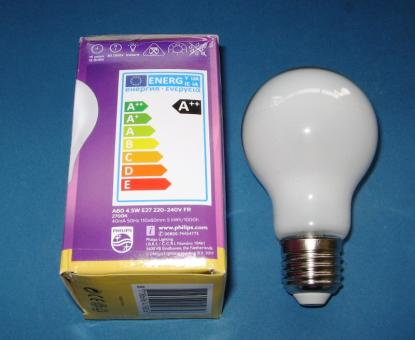 LED-Lampe PHILIPS CLASSIC LEDbulb matt FIL 4,5 W (= 40 Watt) Warm White E27