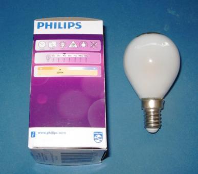PHILIPS Classic LEDluster 4,3-40 W/827 P45 E14 matt