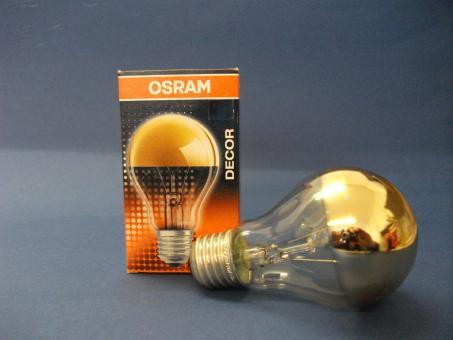 Kopfspiegellampe gold decor a gold 40 watt e27 auslauftype restbest nde leuchtmittel - Kopfspiegellampe led e27 ...