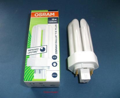 Energiesparlampe - Dulux T/E 18 W/830 PLUS