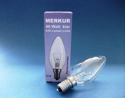 """Kerzenbirne - CLASSIC B CL 40 Watt E14 """"Auslauftype"""" Restbestände"""