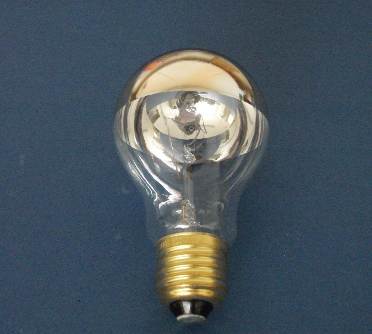 kopfspiegellampe gold gold top mirror 100 watt e27 auslauftype restbest nde leuchtmittel. Black Bedroom Furniture Sets. Home Design Ideas