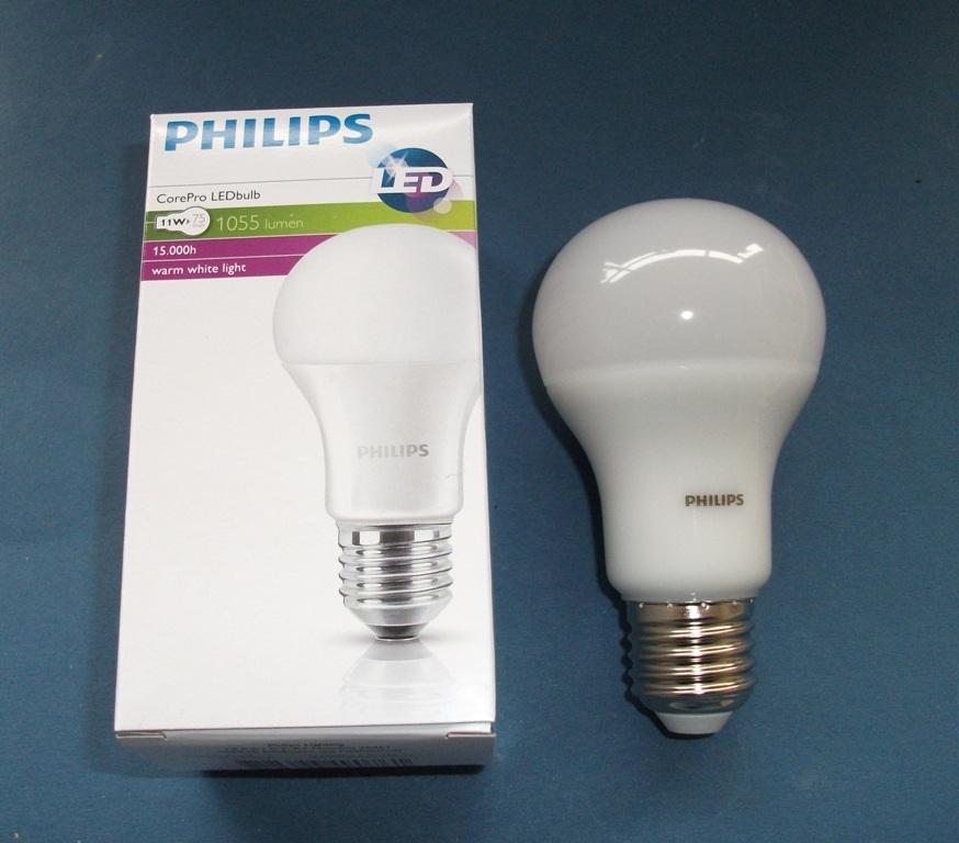 LED-Lampe PHILIPS CorePro LEDbulb matt 11 W (= 75 Watt) Warm White ...