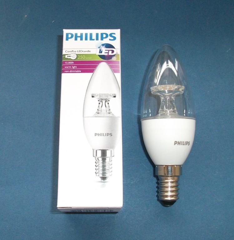 led lampe philips corepro ledcandle 4 25 w 827 e14 cl leuchtmittel ragaller. Black Bedroom Furniture Sets. Home Design Ideas